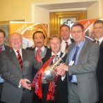 Malky Mackay and Mark Hudson took the Championshiop trophy to the House of Lords