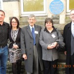 Malky with headteacher Jo Colsey, Graham and Veronica Keenor and John Dixon, chair of the school governors