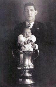 Fred Keenor FA Cup trophy pic